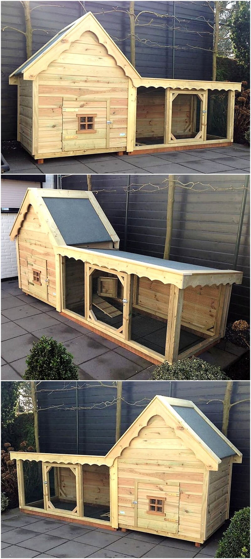 pallets wooden chicken coop plan