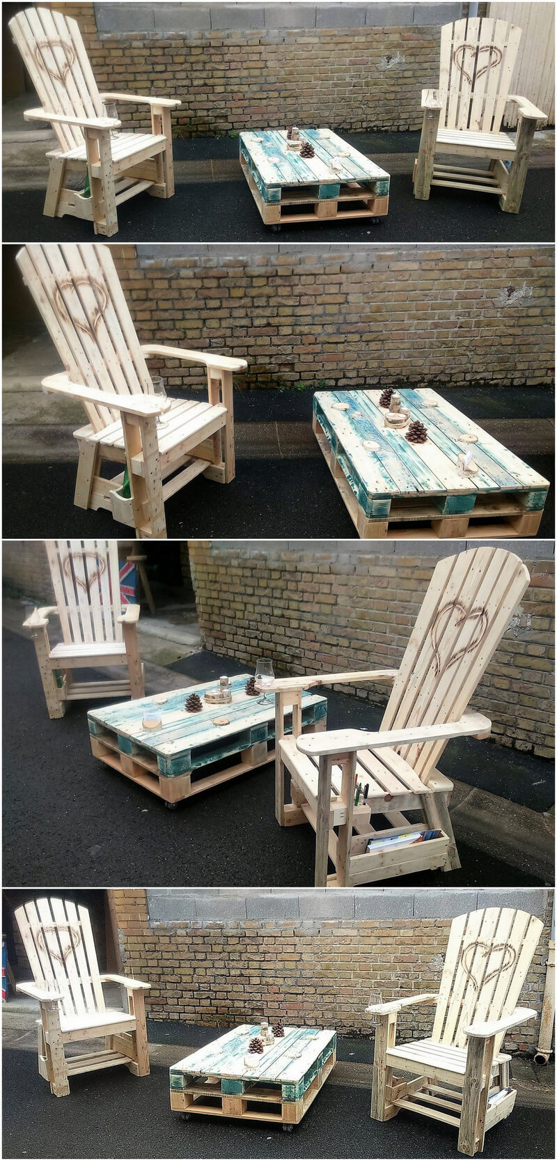 pallets wooden patio furniture