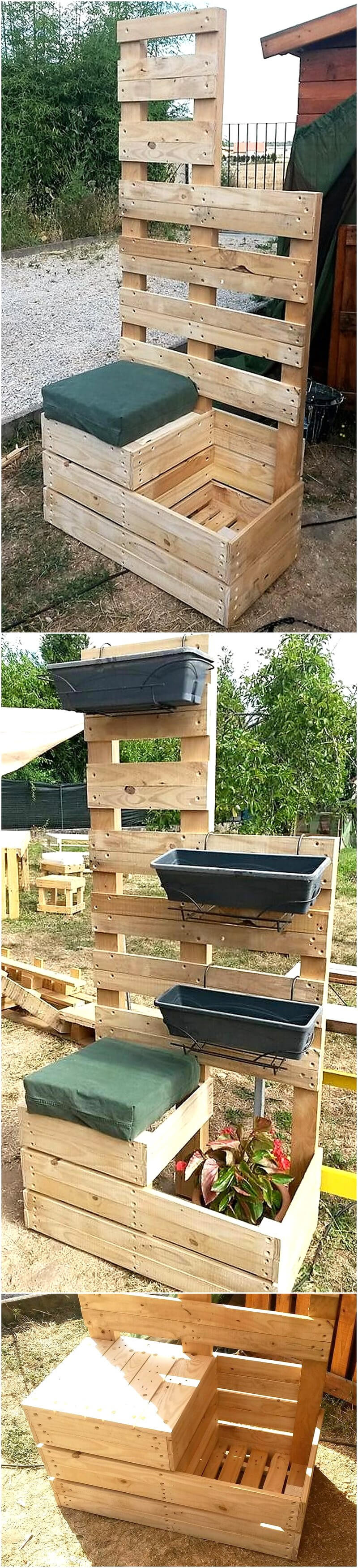 pallets wooden planter project
