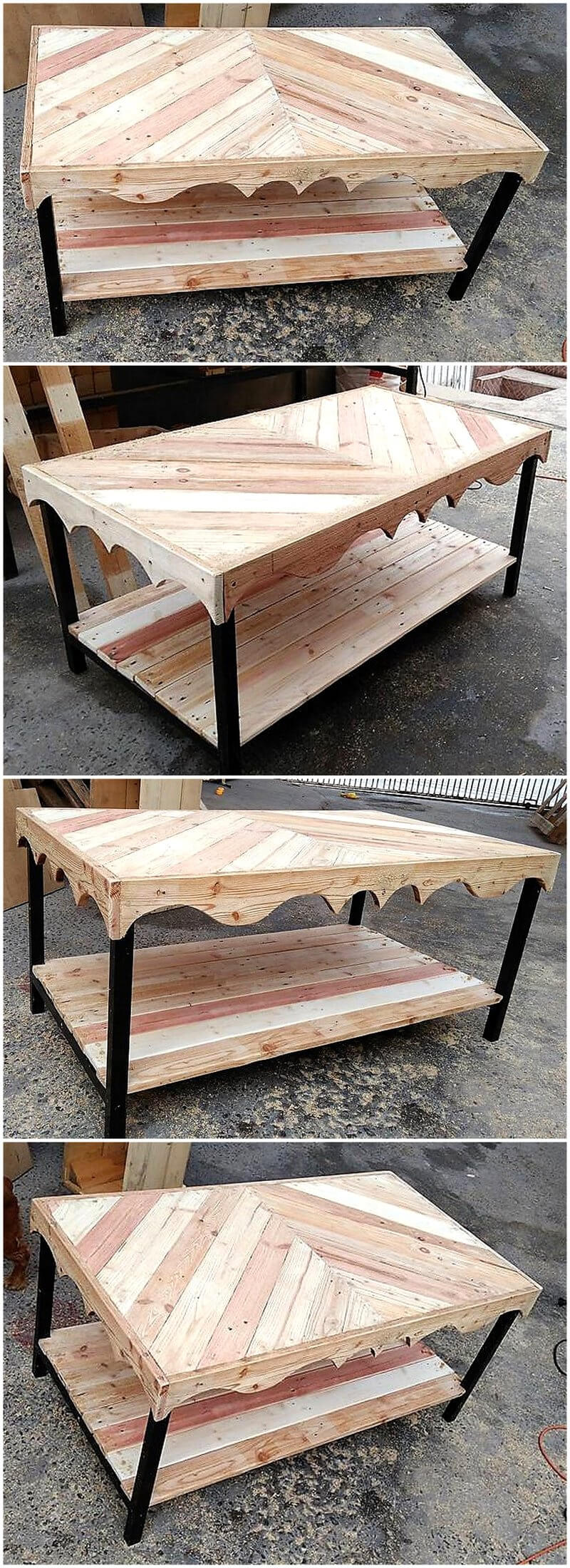 reclaimed pallets wooden table