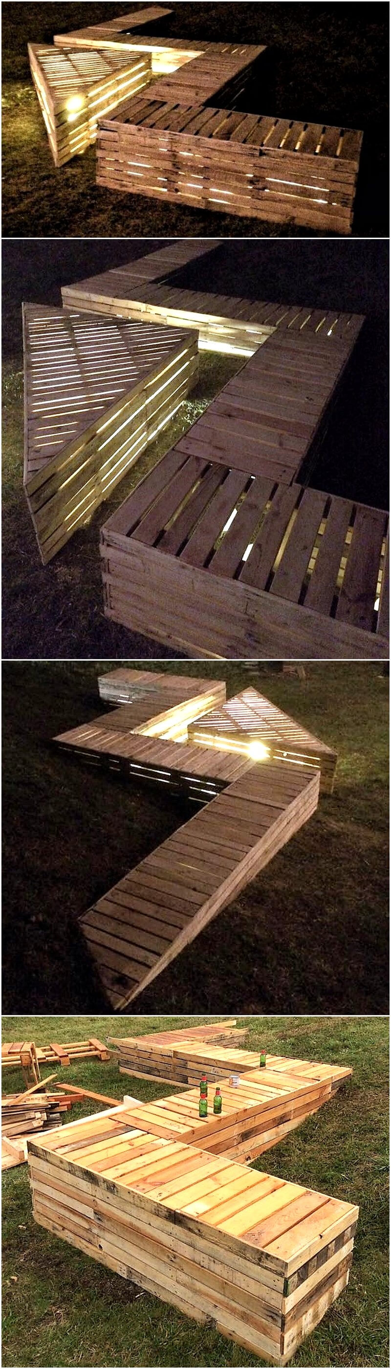 reused pallets garden lounge idea