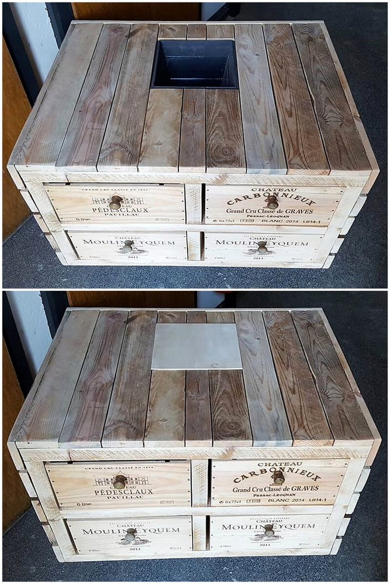 wood pallets made table idea
