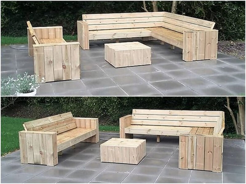 wood pallets patio furniture project