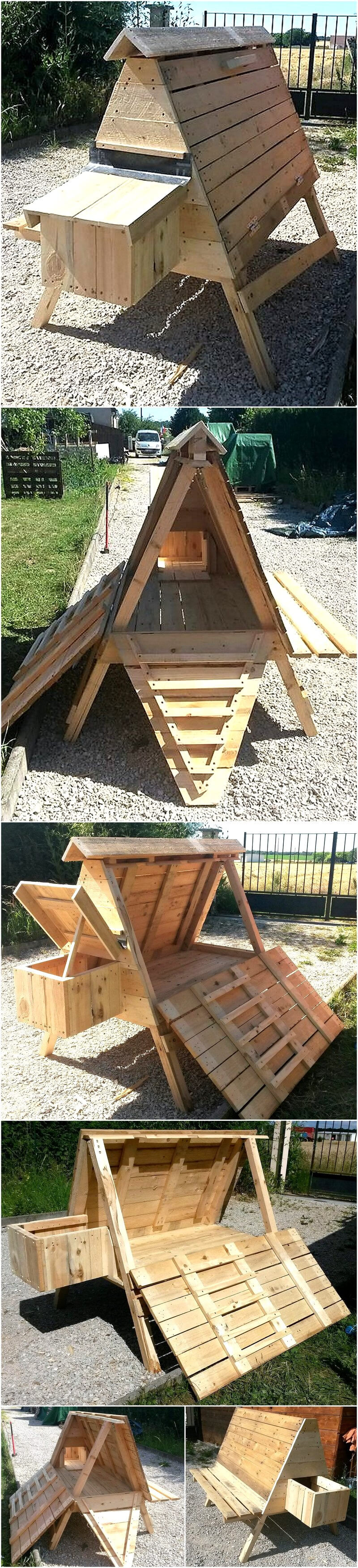 Reuse wood pallets to create such amazing things pallet Chicken coop from pallet wood