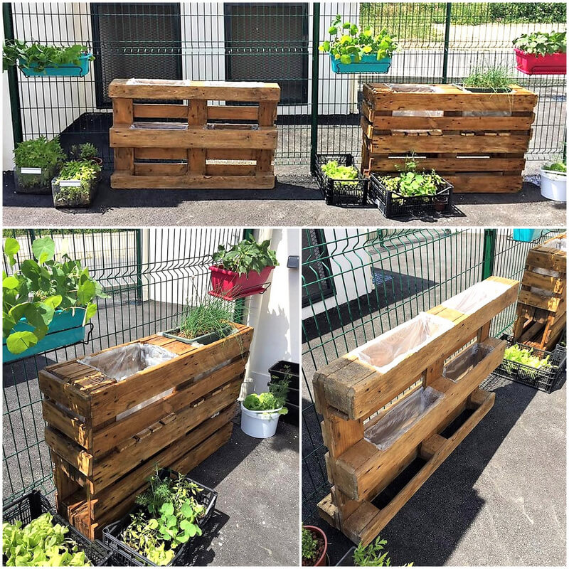 wooden pallets planter idea
