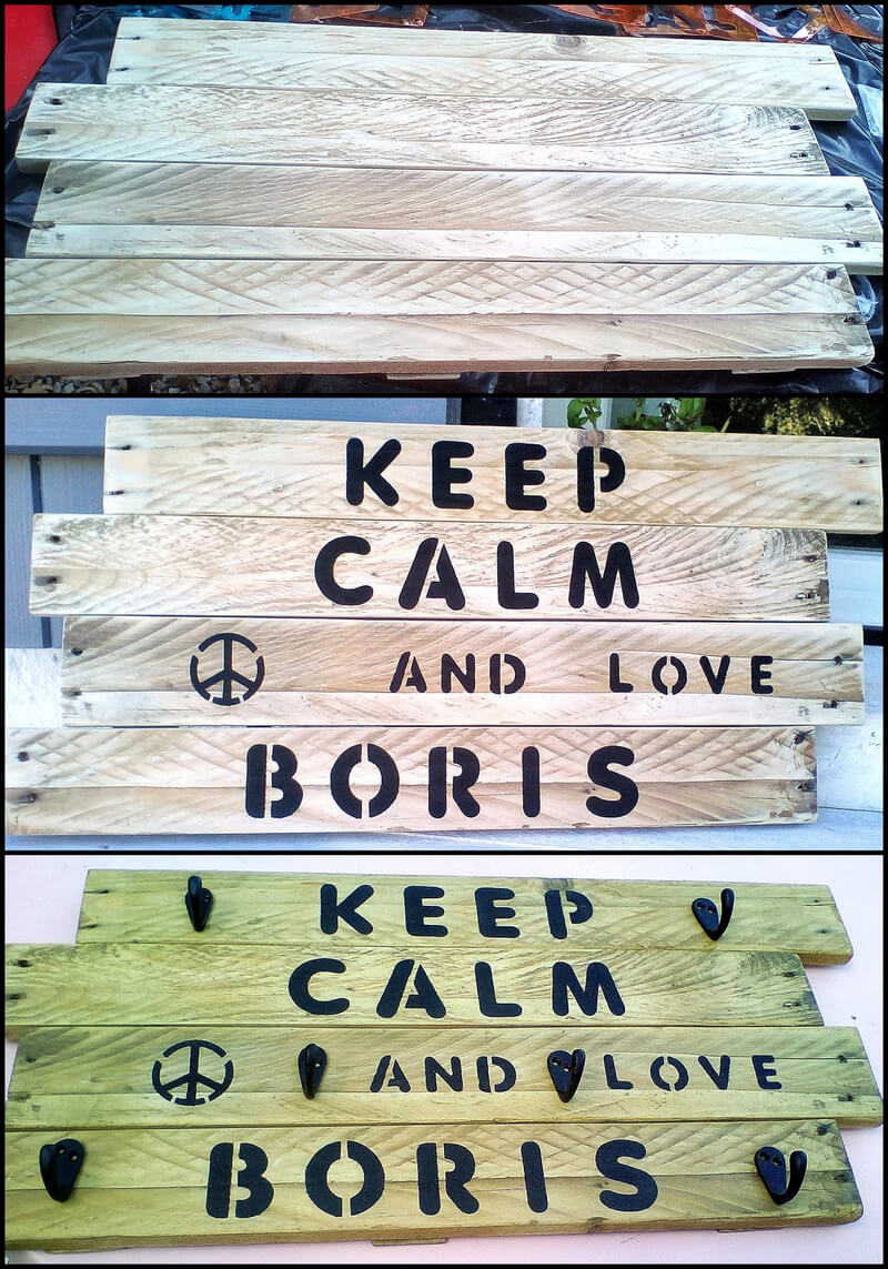 diy pallet hanger idea