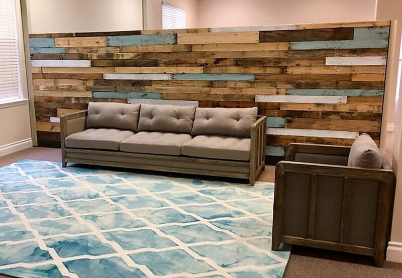pallets living room wall art