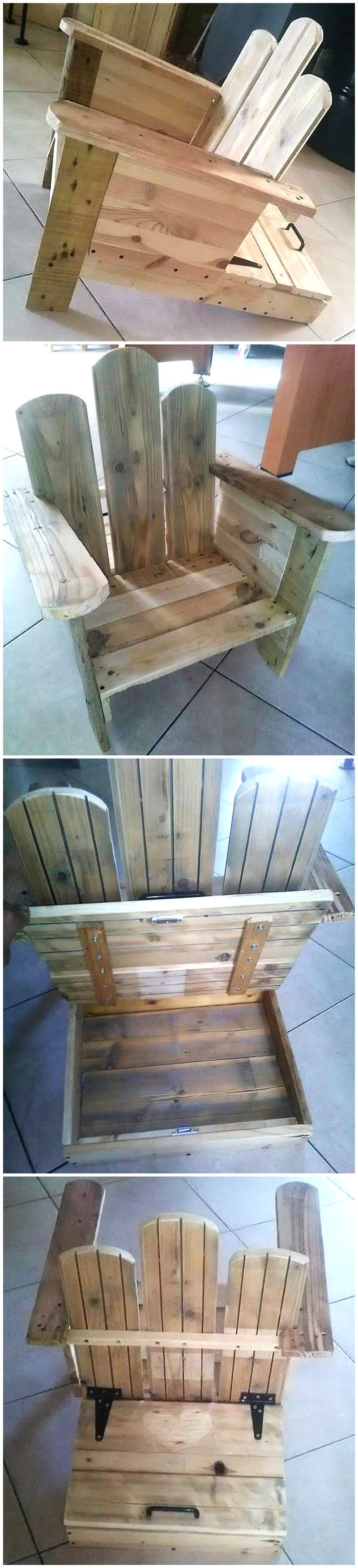 pallets made chair plan