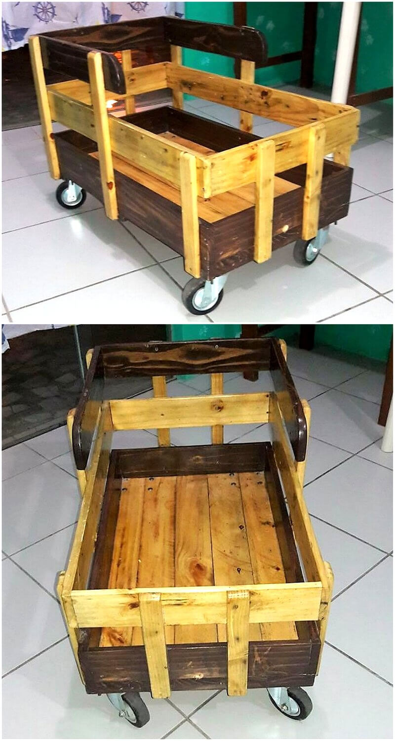 pallets made kids play loading cart for kids