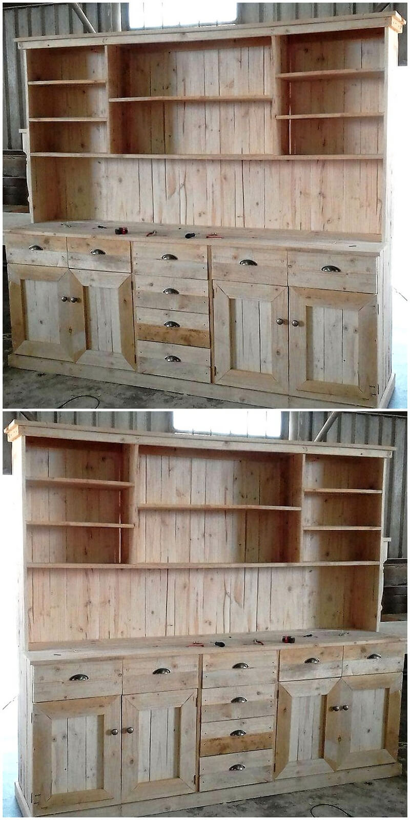 pallets wooden big cupboard