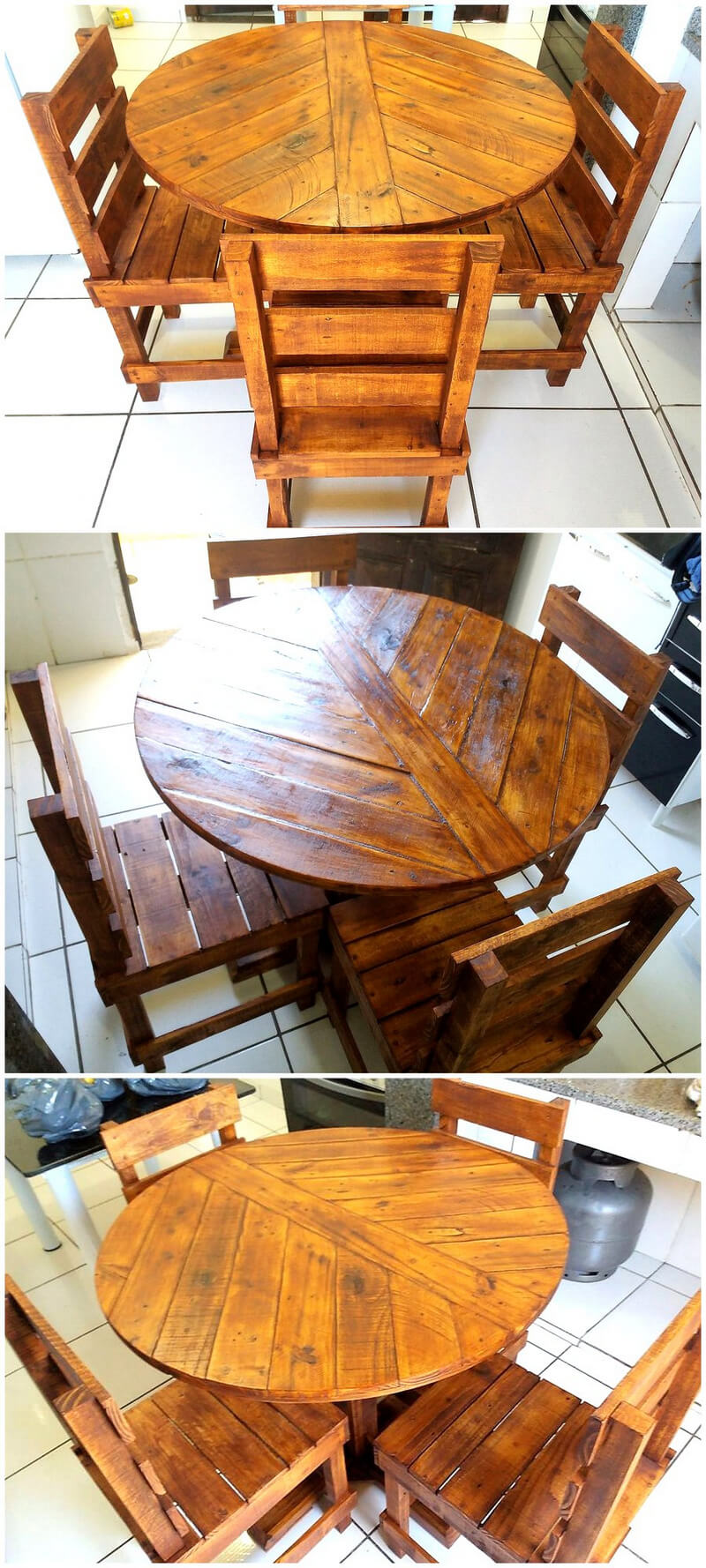pallets wooden dining set