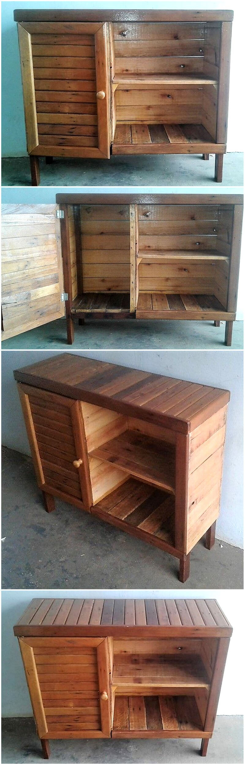 pallets wooden entryway table idea