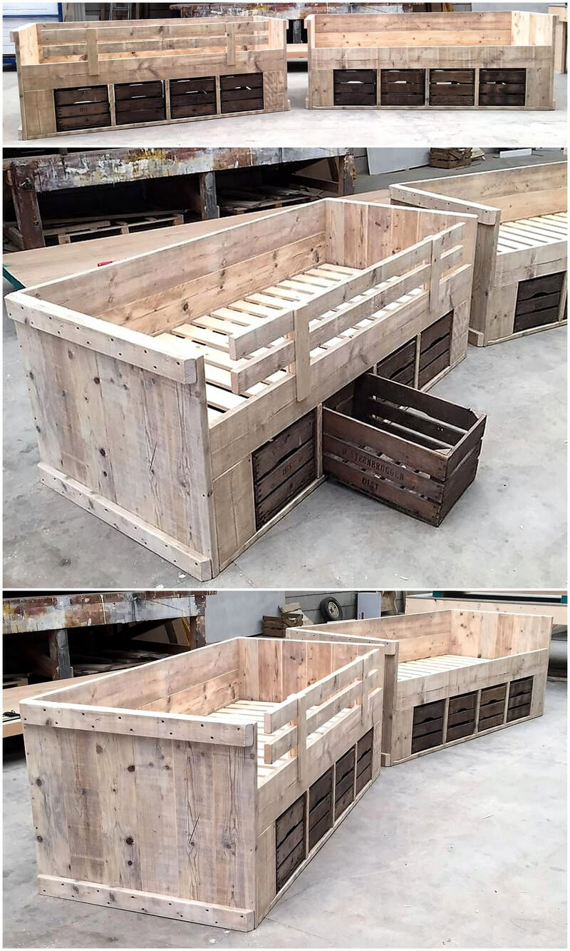 repurposed wood pallet beds