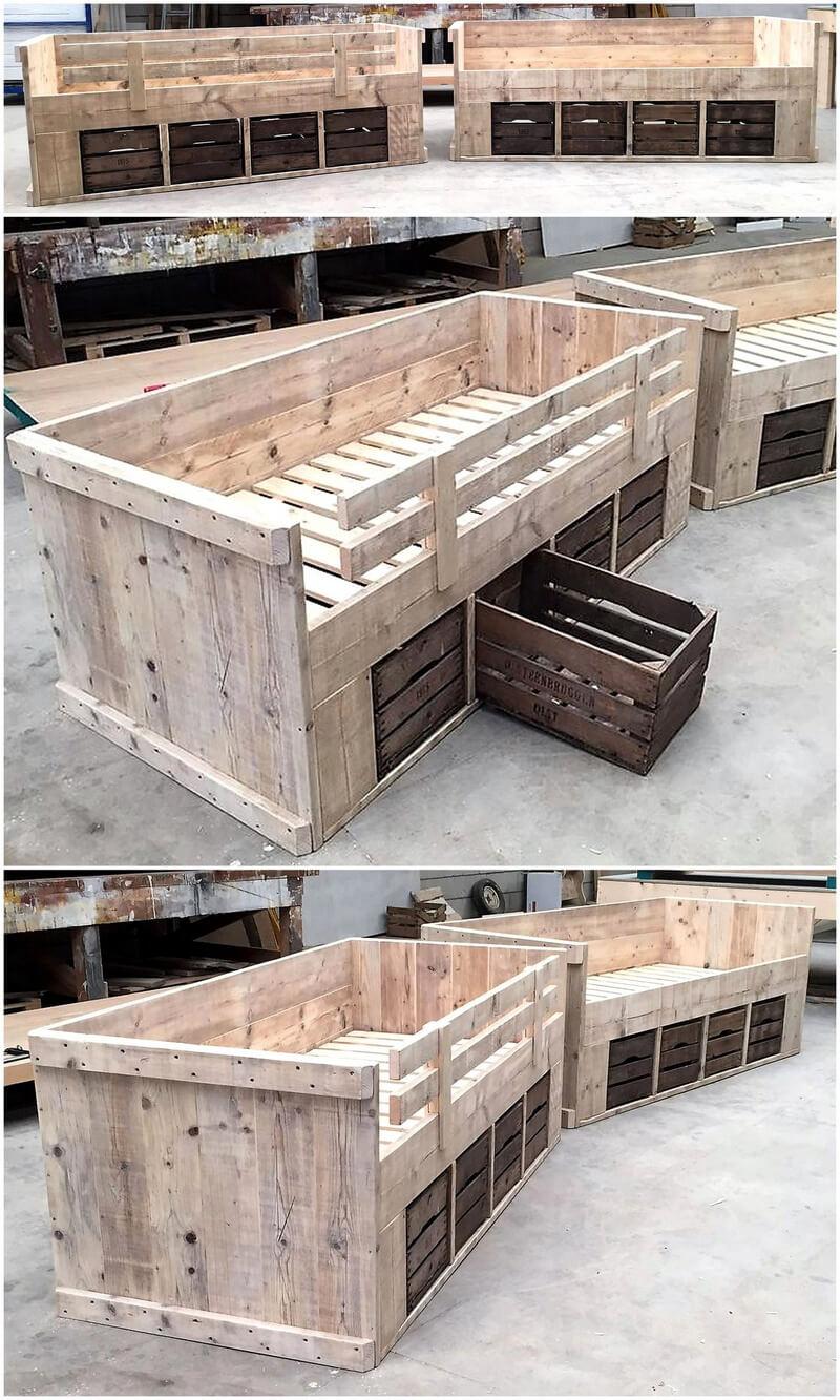 repurposed wood pallet beds