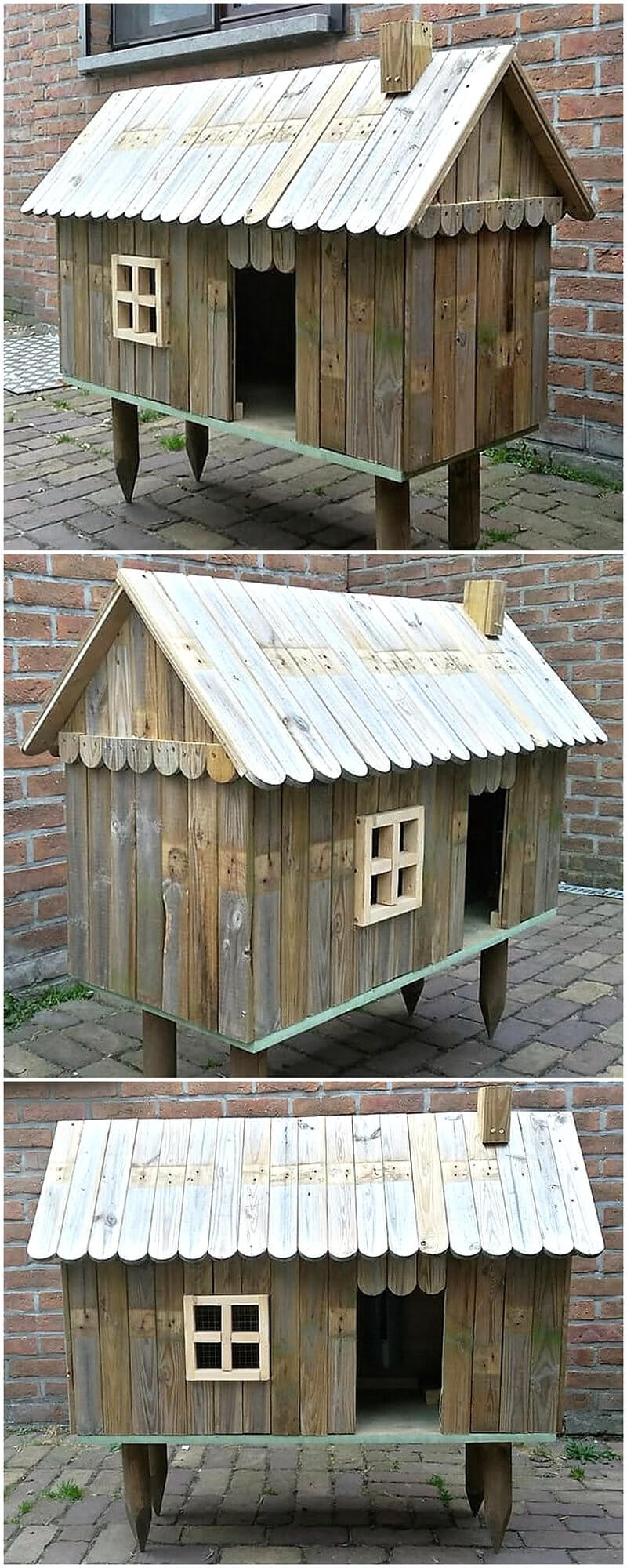 wood pallets rabbits coop