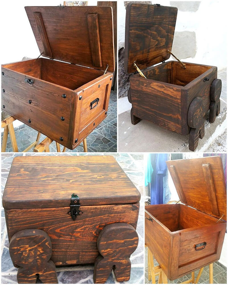 wooden pallets made chests