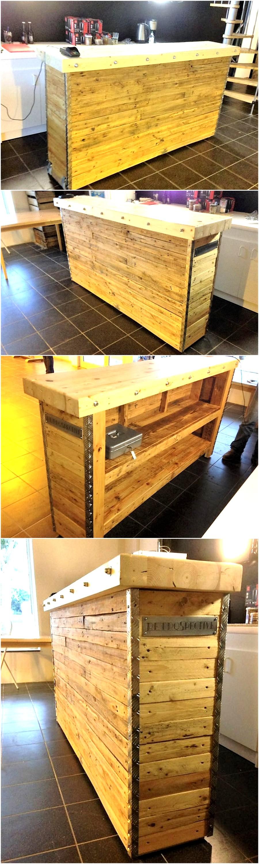 Pallets Wood Made Bar Pallet Ideas