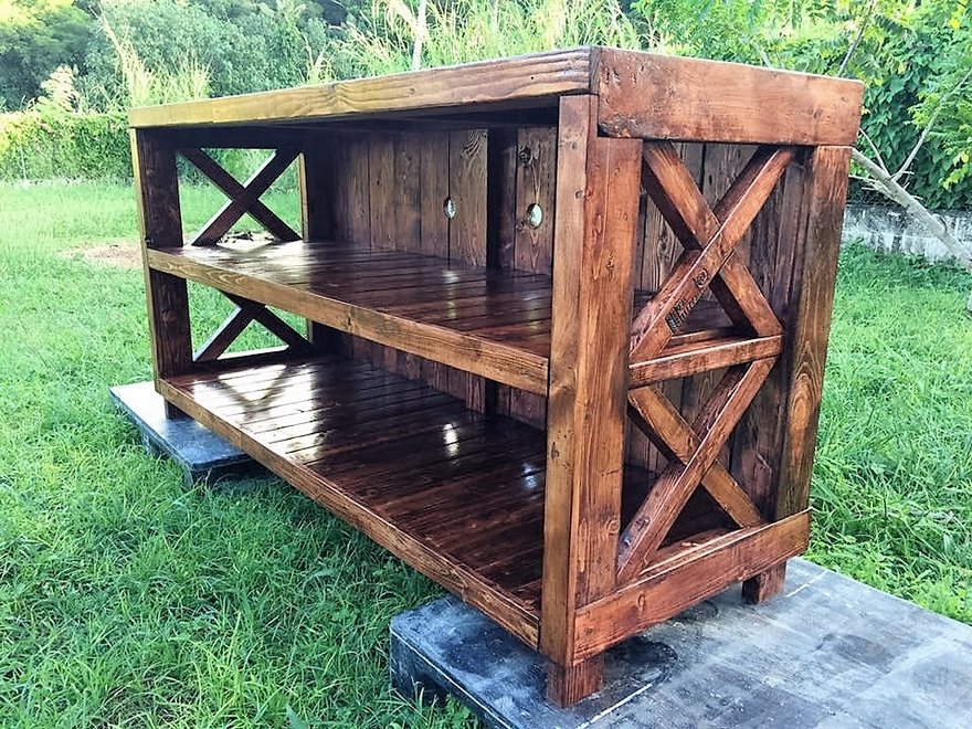 Pallets Made Entertainment Center
