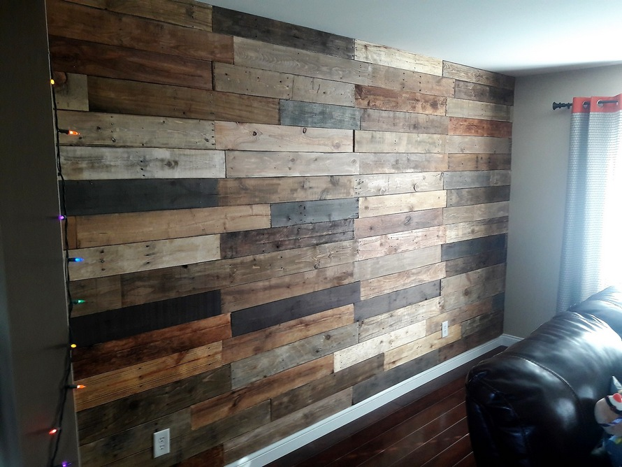 Before And After Wood Pallet Wall Art Ideas