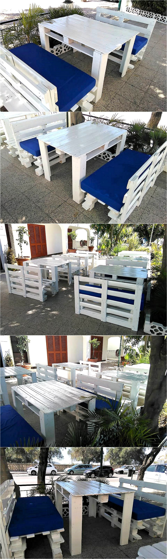 Pallets Wood Outdoor Furniture For Restaurant Pallet Ideas