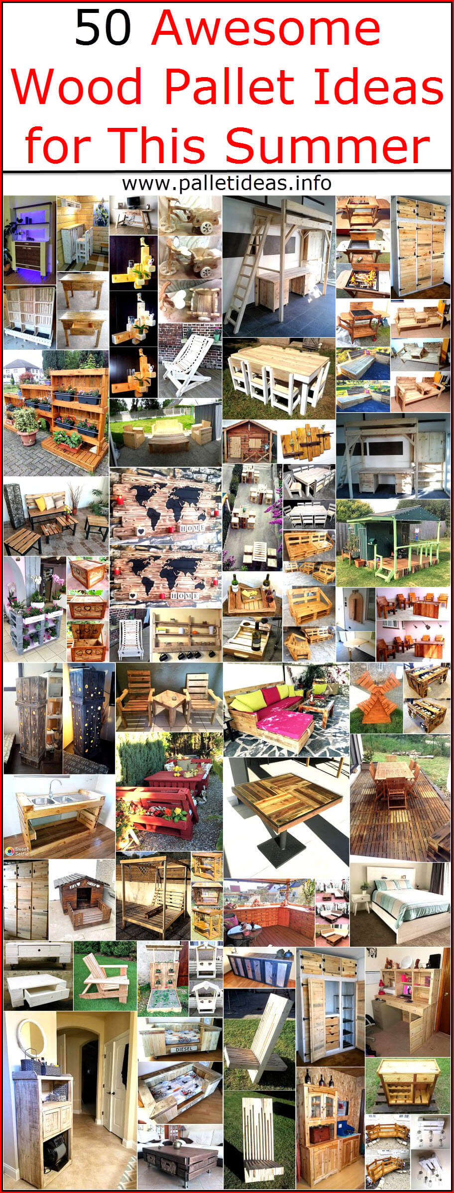 50 Awesome Wood Pallet Ideas For This Summer Pallet Ideas