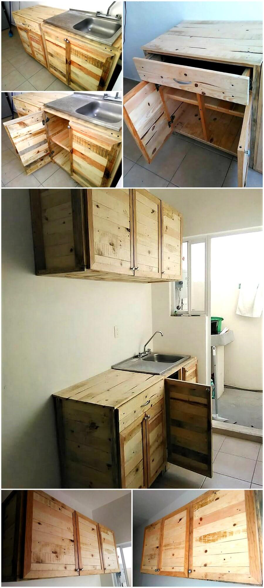 Wood Pallet Recycled Kitchen Cabinets – Pallet Ideas