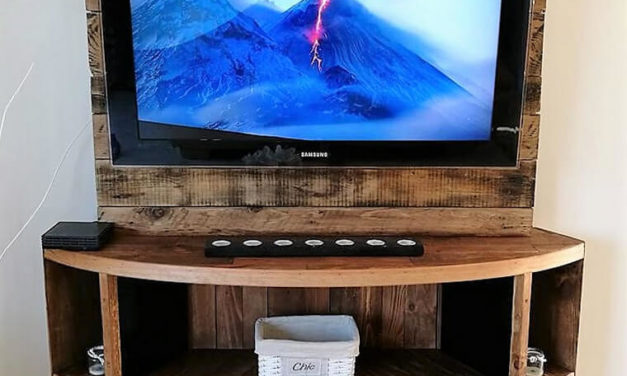 DIY Wood Pallet TV Stand Plan