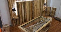 wooden pallet bed headboard plan