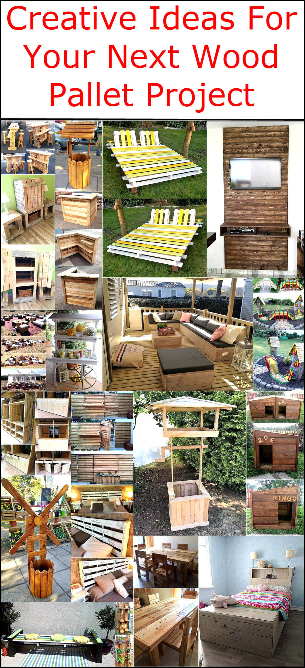 Creative Ideas For Your Next Wood Pallet Project Pallet Ideas