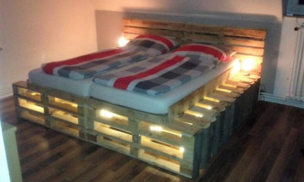 DIY Pallets Wooden Made Bed Plan