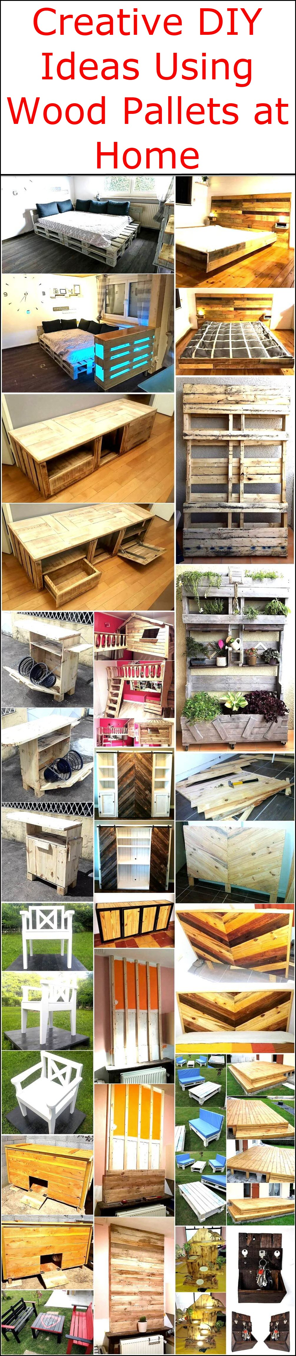 Creative Diy Ideas Using Wood Pallets At Home Pallet Ideas