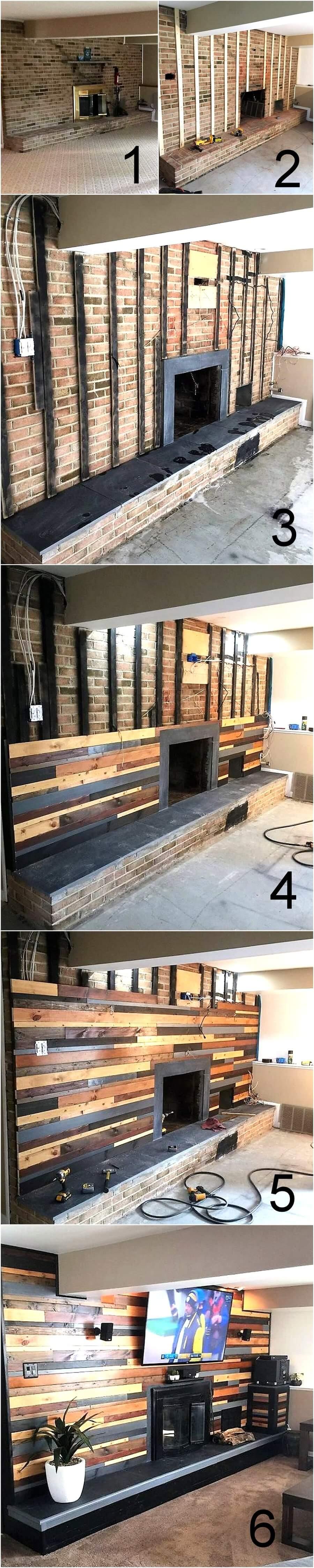 Diy Wooden Pallets Wall Cladding Plan Pallet Ideas