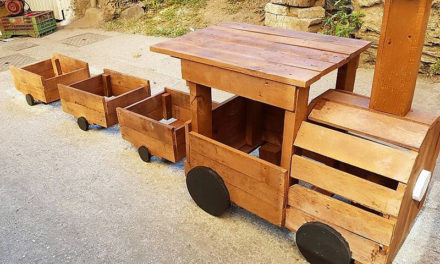 Recycled Wooden Pallets Gardener Train