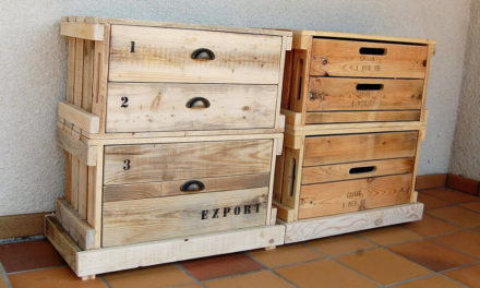 Pallets Wood Made Pair of Entryway Tables