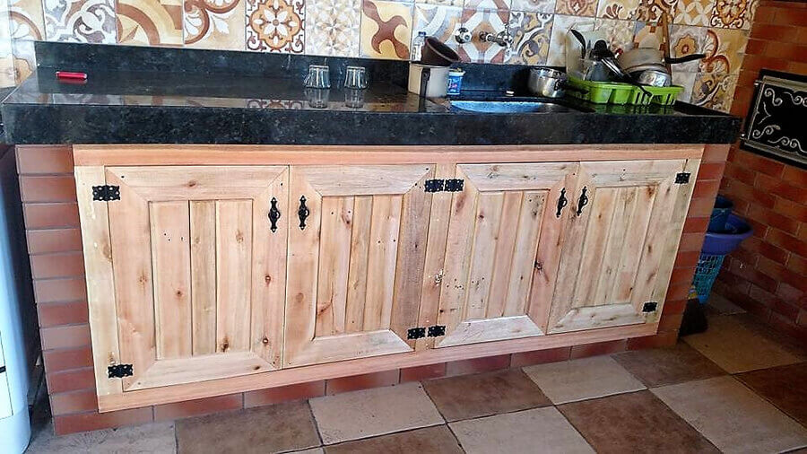 Wooden Pallets Kitchen Storage Cabinets Pallet Ideas