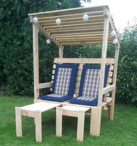 pallets recycled strandkorb chair
