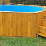 DIY Reclaimed Wood Pallets Garden Pool Plan
