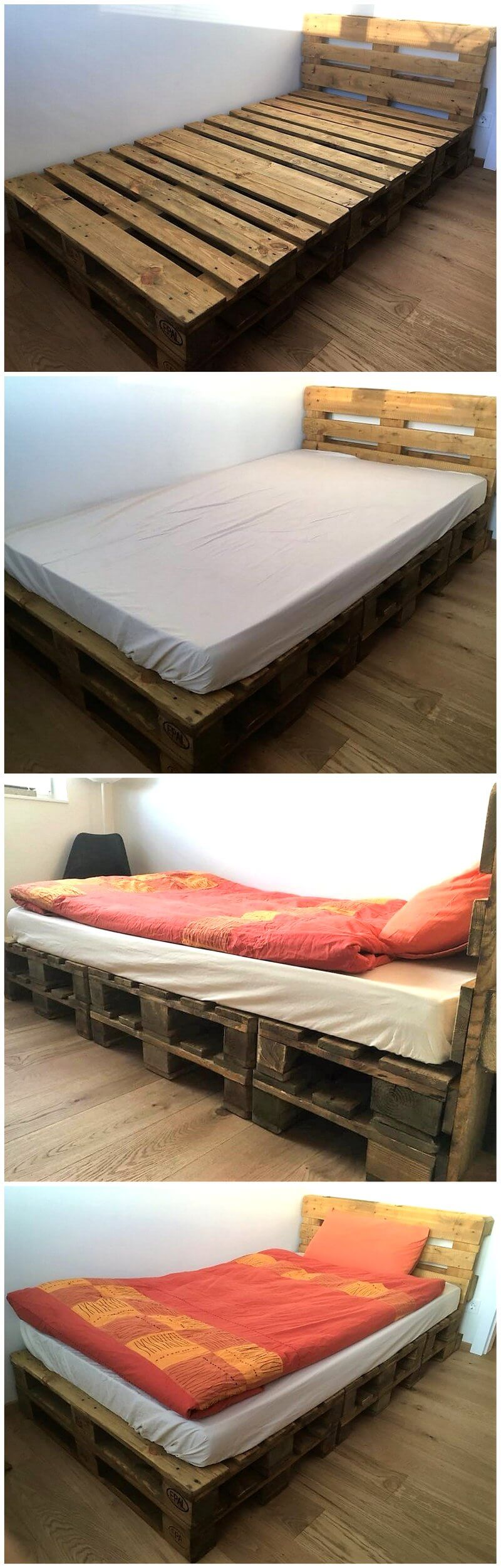 Most Quick And Simple Wood Pallet Bed Idea Pallet Ideas