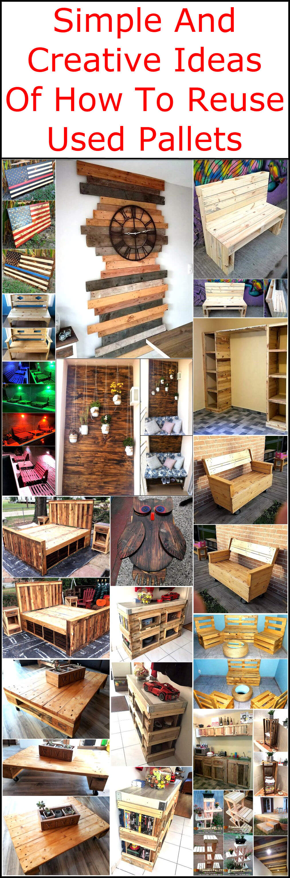 Simple And Creative Ideas Of How To Reuse Used Pallets Pallet Ideas