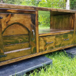 Repurposed Wooden Pallets Made TV Stand