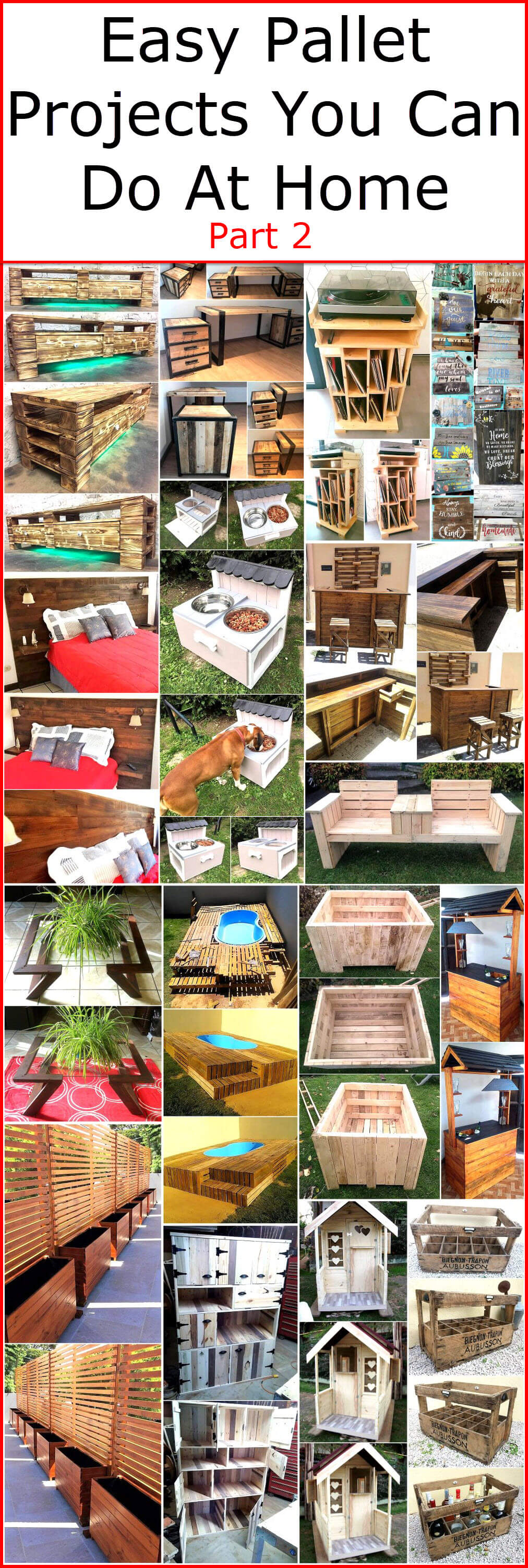Easy Pallet Projects You Can Do At Home Pallet Ideas
