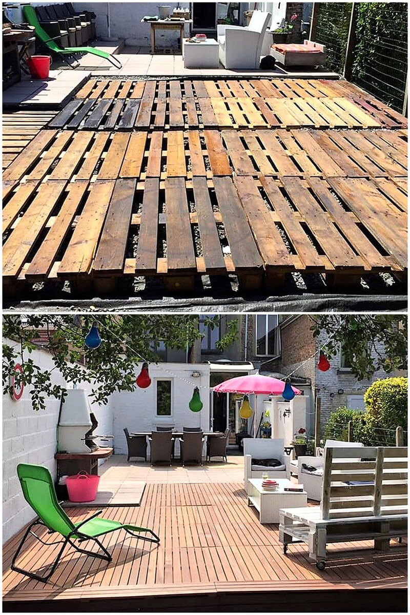 Some charming ideas for pallets recycling pallet ideas for Diy terrace