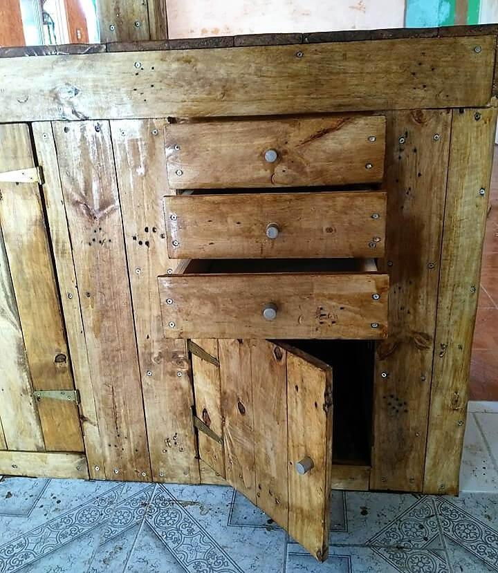 pallet bar drawers