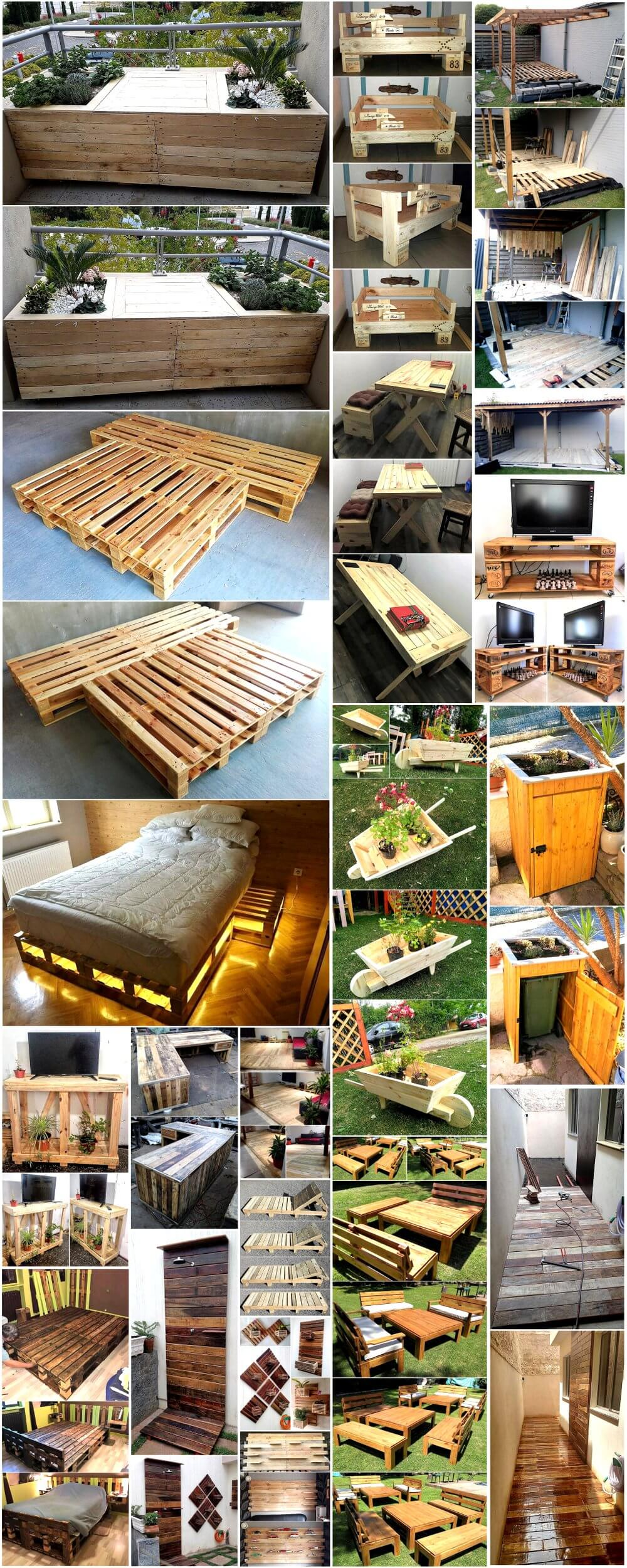 Creative Creations Made Out Of Pallets Pallet Ideas # Muebles Pailets