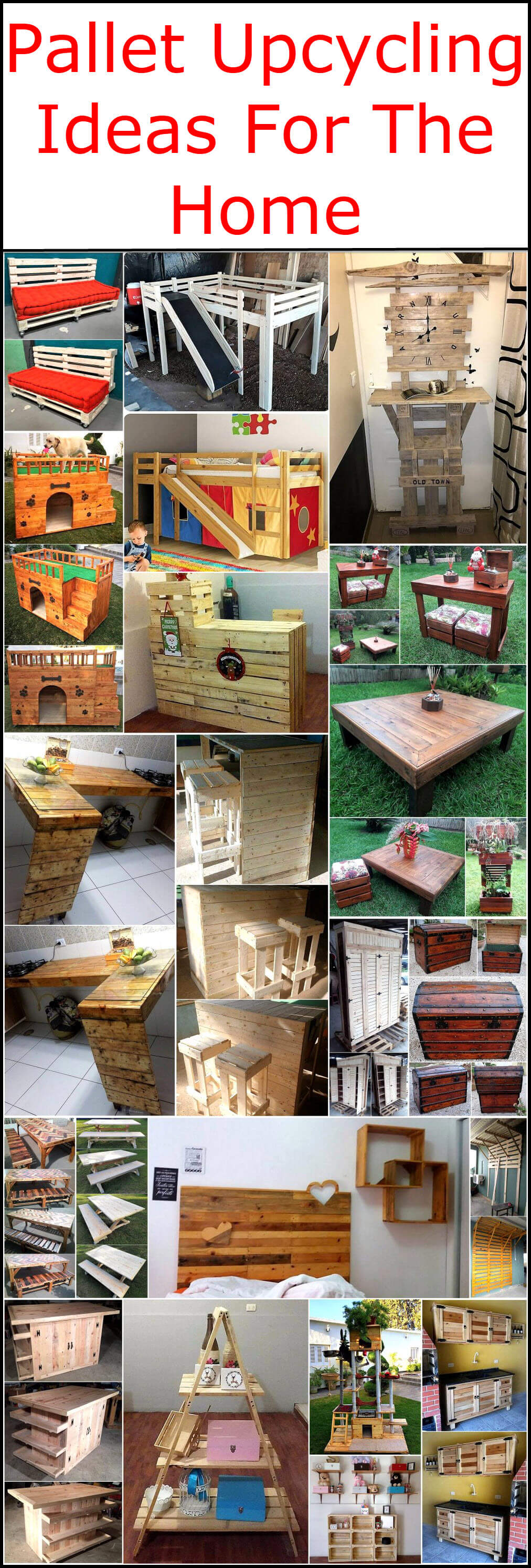 pallet upcycling ideas for the home pallet ideas