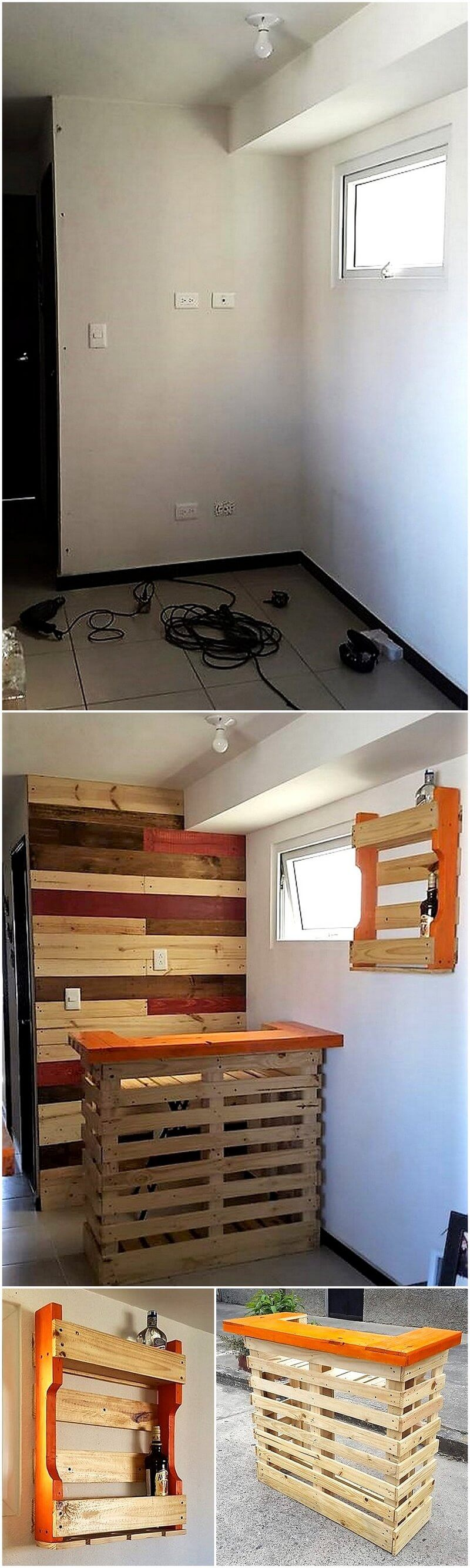 diy pallet bar and wall decor art