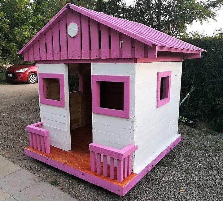 diy pallet play cabin