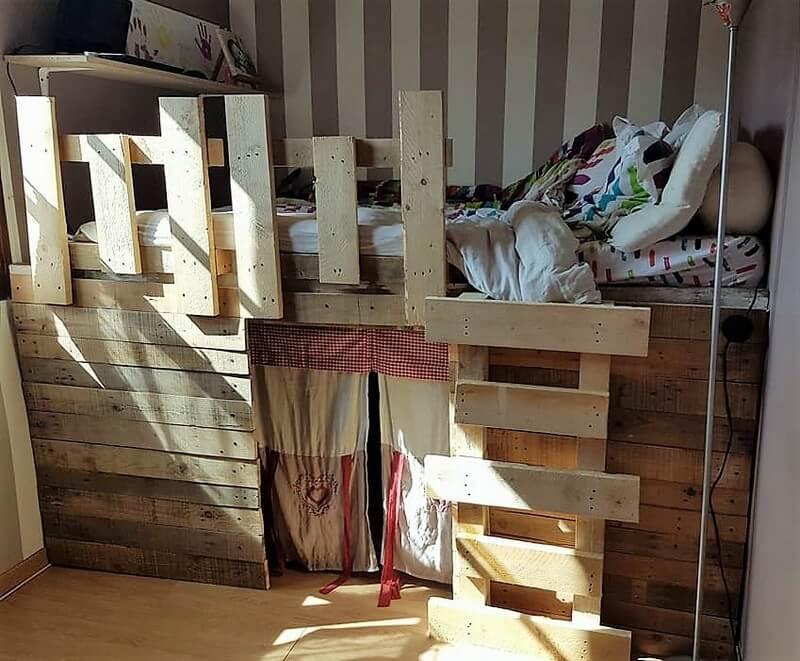 pallet bunk bed plan