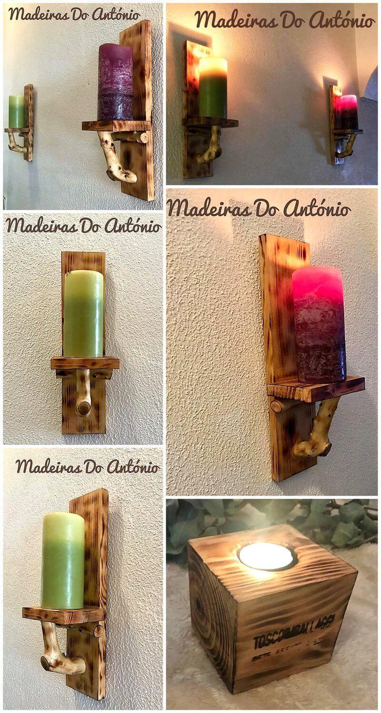 pallet candle holder art 6