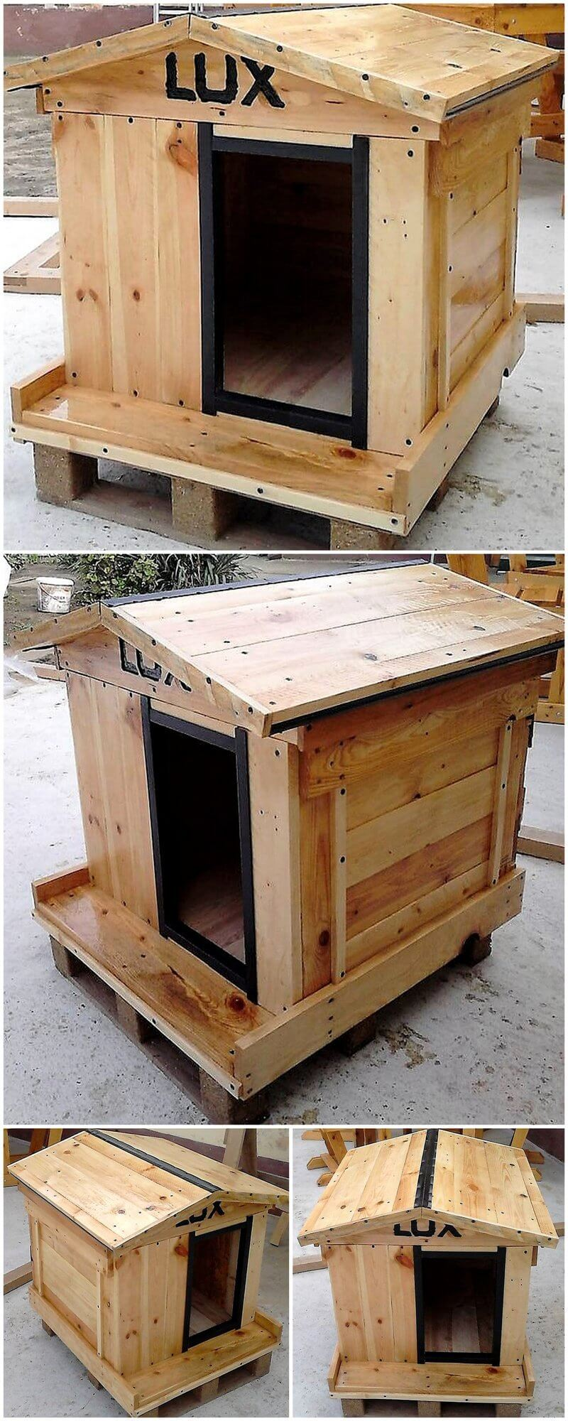 pallet dog house plan